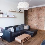 Solid oak flooring in an apartment